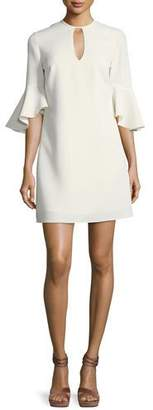 Shoshanna Casmaliia Trumpet-Sleeve Mini Dress