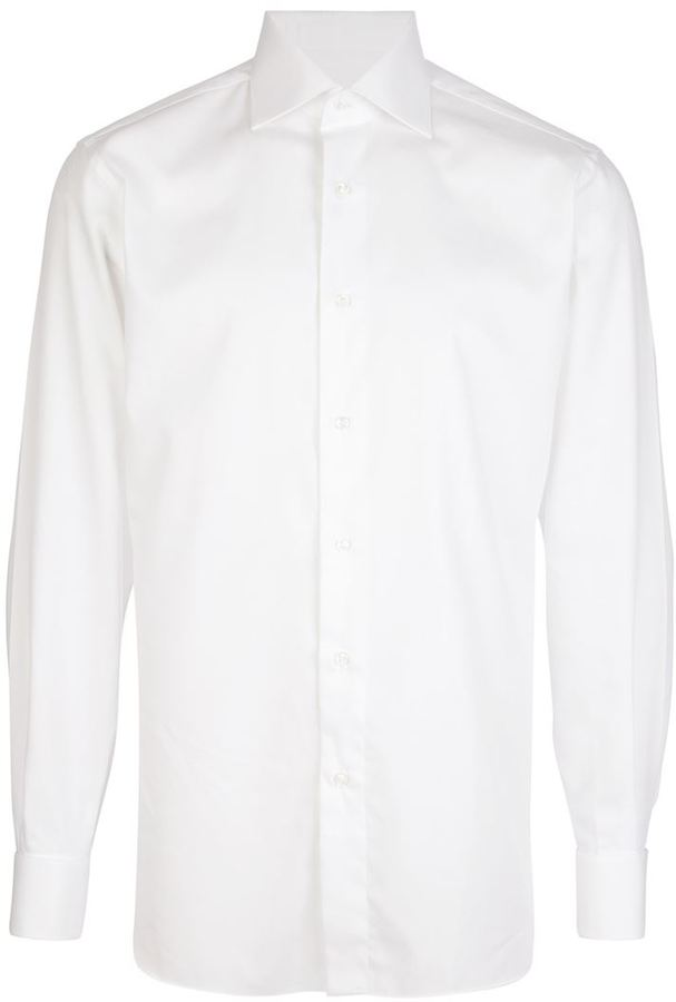 Brioni cut-away collar shirt