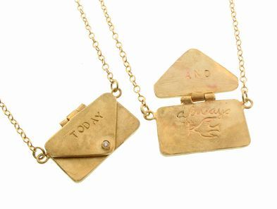 Yayoi Forest: Letter to Myself Pendant in Gold