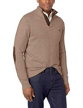 65b3fd7390 Chaps Men s Classic Fit Twist Button Mock Sweater