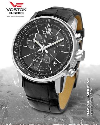 Vostok Europe Men's GAZ-14 Grand Chronograph Trigolight Watch Dial and Strap 6S30/5651174
