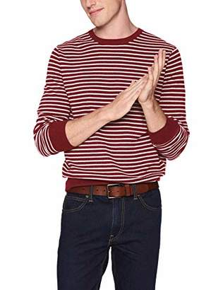 J.Crew Mercantile Men's Cotton Pique Striped Crewneck Sweater