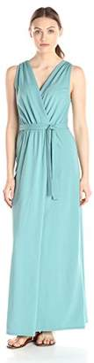 Lark & Ro Women's Sleeveless Faux Wrap Goddess Maxi Dress