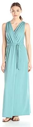 Lark & Ro Women's Sleeveless Faux-Wrap Goddess Maxi Dress