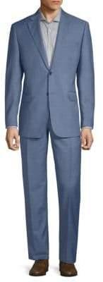 Saks Fifth Avenue Plaid Wool Suit