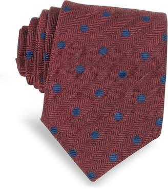 Forzieri Dots Woven Silk Narrow Tie