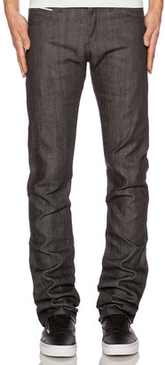 Naked & Famous Denim Skinny Guy Charcoal Selvedge.