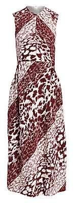 Victoria Beckham Women's Sleeveless Graphic Print Midi Dress