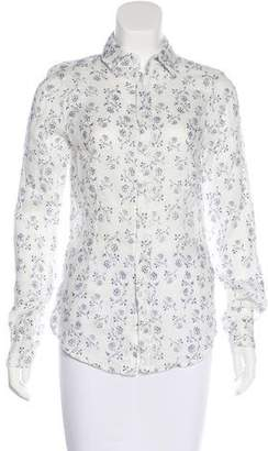Cp Shades Printed Button-Up Top