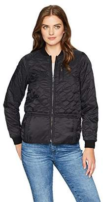 Democracy Women's Shirt Tail Hem Quilted Jacket