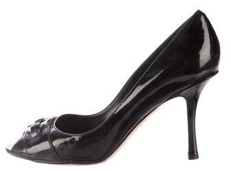 Christian Dior Patent Leather Logo Pumps
