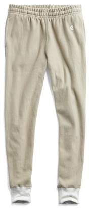 Todd Snyder + Champion Reverse Weave Slim Sweatpant With Rib Contrast in Dark Driftwood