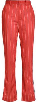 MSGM Striped Crepe Bootcut Pants