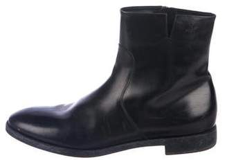 Salvatore Ferragamo Leather Zip Ankle Boots