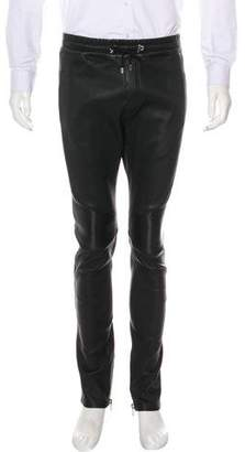 Balmain Lambskin Biker Pants