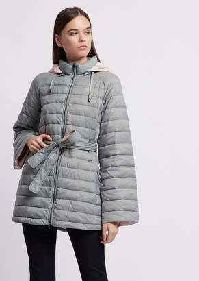 Emporio Armani Quilted Nylon Jacket With Oversized Hood