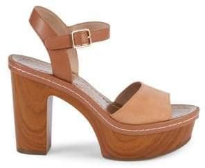 ce32ba6ee5d1 BCBGeneration Zina Leather & Suede Ankle-Strap Heeled Sandals