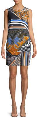 Versace Print Sheath Dress