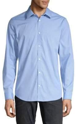 Calvin Klein Striped Casual Button-Down Shirt