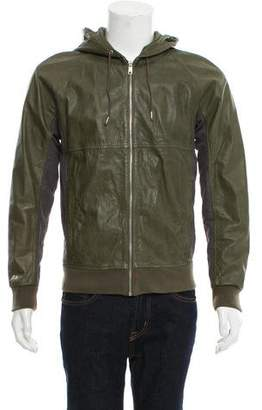 Marc Jacobs Hooded Leather Jacket