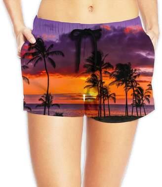 Trunks MICUCI MEICU Women's Sunset Beach Activewear Swim