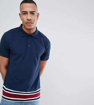 Jacamo TALL Polo Shirt With Stripe Trim