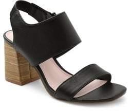 Kensie Elianna Leather Heeled Sandals