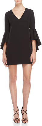 Milly Black Nicole Bell Sleeve Dress