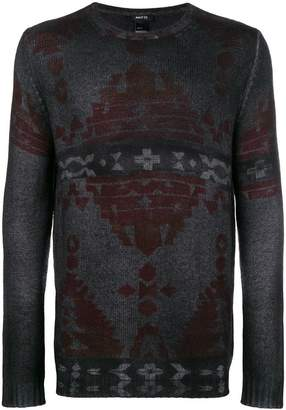 Avant Toi faded tapestry print sweater