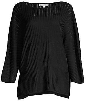 Misook Women's Multi-Stitch Dolman-Sleeve Top