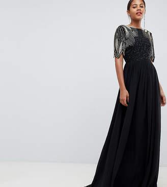 Virgos Lounge Tall lena maxi dress with embellishment in black