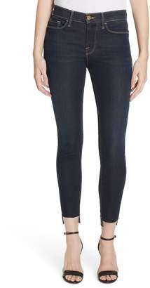 Frame Le Skinny Raw Step Hem Ankle Skinny Jeans