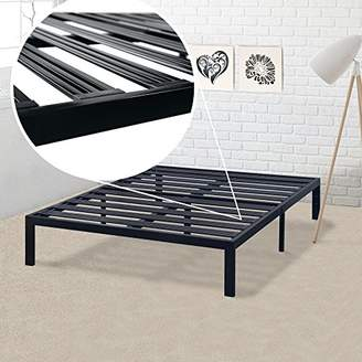 Best Price Mattress Full Bed Frame - 14 Inch Metal Platform Beds [Model E] w/ Steel Slat Support (No Box Spring Needed)