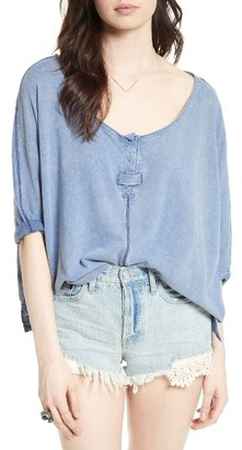 Women's Free People First Base Henley Top $68 thestylecure.com