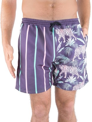 DUVIN Jungle Volley Swim Trunks $68 thestylecure.com