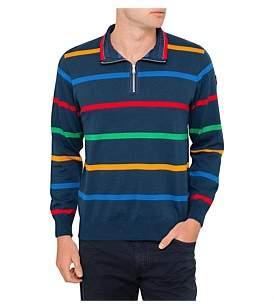 Paul & Shark Long Sleeve Multi Stripe Half Zip Knit