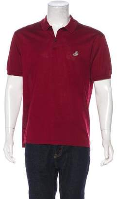 Lanvin Shoe-Embroidered Polo Shirt