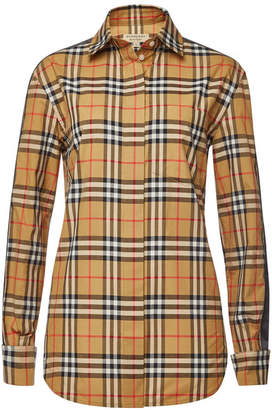 Burberry Saoirse Checked Cotton Shirt