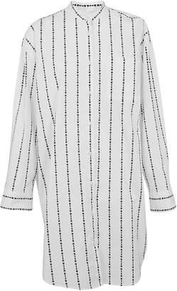 MSGM Brand Stripe Shirt Dress