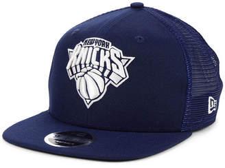 low priced 2a352 b72a2 New Era New York Knicks Dub Fresh Trucker 9FIFTY Snapback Cap