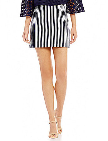 Trina Turk Rico Striped Mini Skirt