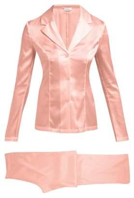 La Perla Silk Satin Pyjama Set - Womens - Pink