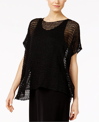 Eileen Fisher Organic Linen Blend Boat-Neck Top $198 thestylecure.com