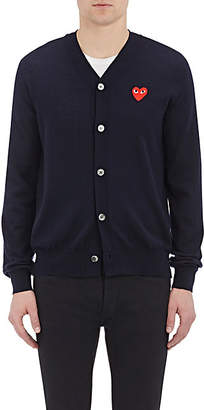 Comme des Garcons Men's Heart Wool Cardigan - Navy