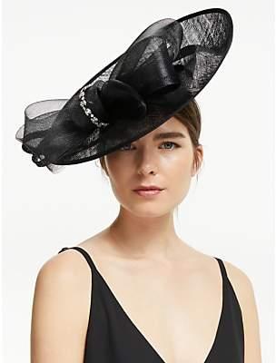 6af6f94c809f4 John Lewis & Partners Darcy Crystal Loop Wide Disc Occasion Hat, Black