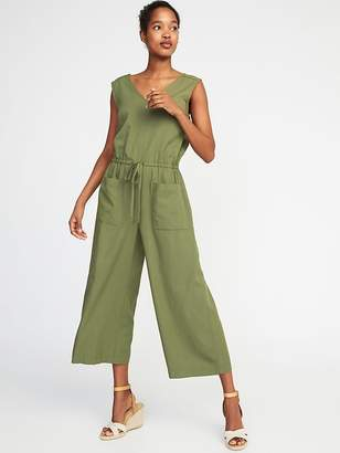Old Navy Waist-Defined Sleeveless Utility Jumpsuit for Women