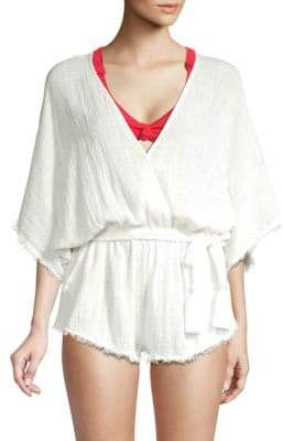 Dolce Vita Cotton Frayed Cover-Up Romper
