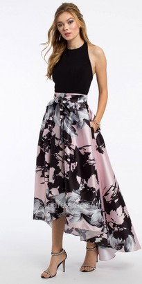 Camille La Vie Halter Floral High Low Prom Dress $160 thestylecure.com