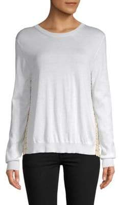 Aquilano Rimondi Crewneck Lace Top