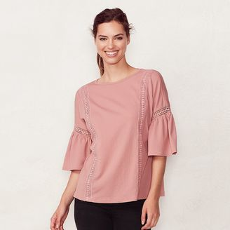 Women's LC Lauren Conrad Crochet Trim Top $36 thestylecure.com